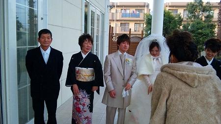 岩崎さんの息子さん披露宴